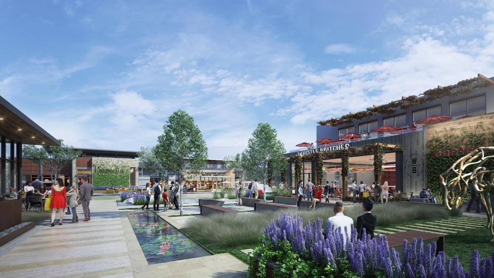 Restaurant plaza rendering